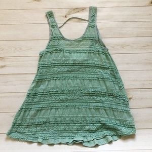 UO Pins and Needles Mint Green Lace Tunic